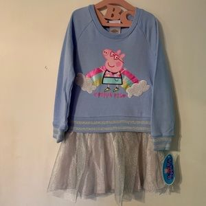 Peppa Pig Tulle Dress-Size 4T